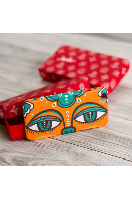 "iPhone case ""Dyvooo-eyes. The Emerald Cat-Whale"""