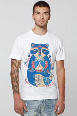 "Men's T-Shirt ""The Cornflower Raccoon"""