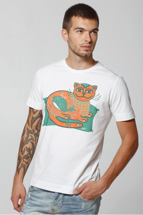 "Men's T-Shirt ""Emerald Cat-Whale"""
