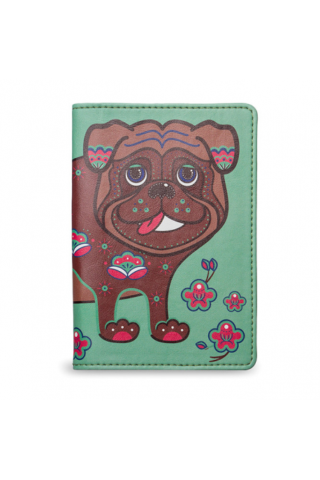 """Passport Cover """"The apricot pug"""""""