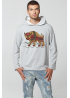 "Men's Sweatshirt Hoodie ""Carpathian Bison"""