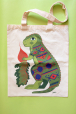 Eco bag with dinosaur