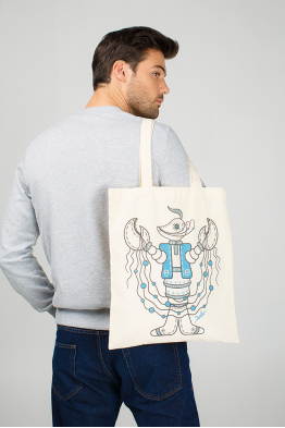 "Eco bag  ""Horoscope crawfish - a brave cossack"""