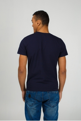 Dark blue men's T-Shirt