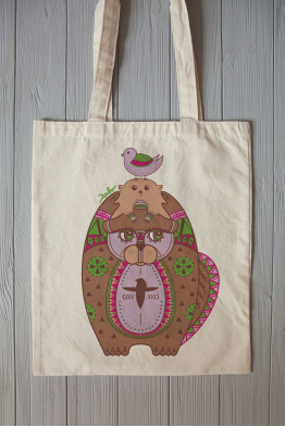 "Eco bag  ""Family totem"""