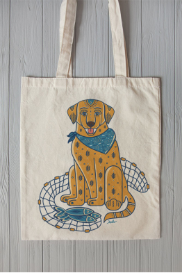 "Eco bag  ""The Canadian Labrador"""