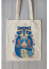"Eco bag  ""Cornflower raccoon"""