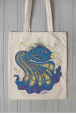 Eco bag with blue fish