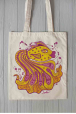 Eco bag with yellow fish