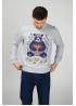 "Men's sweatshirt ""Panda with mandarins"""
