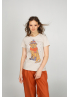 Beige woman t-shirt with new year dog