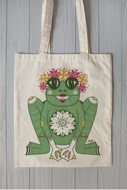 "Eco bag  ""The Princess Frog"""