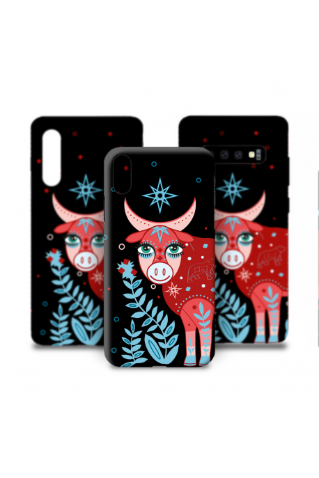 Phone case with cow