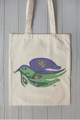 "Eco bag  ""Spring Swallow"""