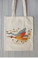Eco bag with storks