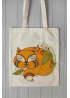 "Eco bag  ""Little fox is sleeping"""