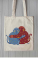 Eco bag with lovely monkeys