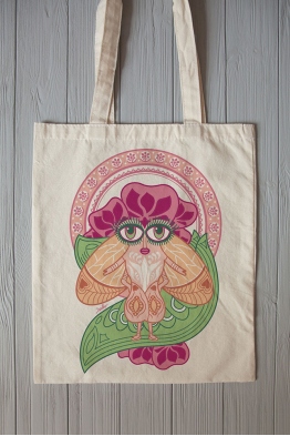 "Eco bag ""Lady fly"""
