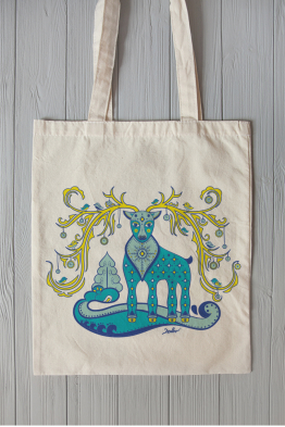"Eco bag ""Fabulous deer"""