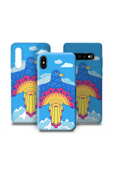 Phone case with eagle
