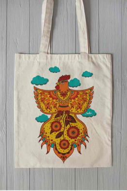 "Eco bag ""Fire Rooster"""