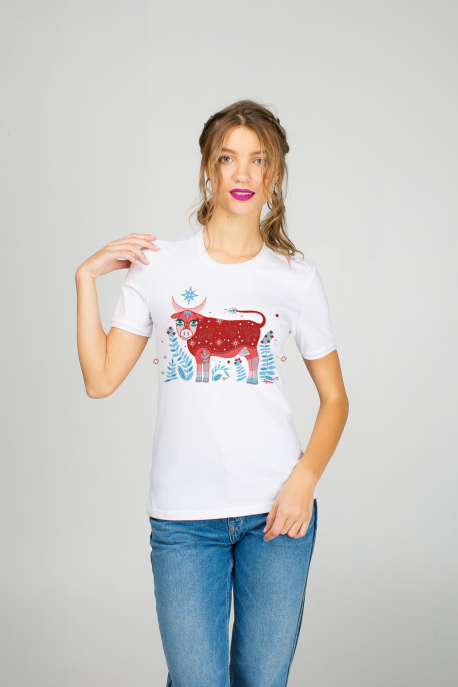 Women's t-shirt with cow print
