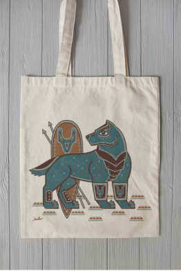 "Eco bag ""Steel Wolf"""