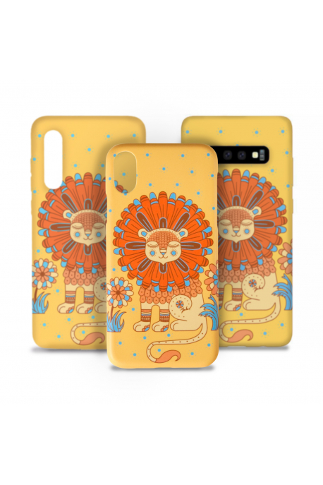 Phone case with sunny lion