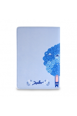 "Passport Cover ""Curly blue sheep"""
