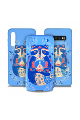 "The phone case ""Cornflower raccoon"""