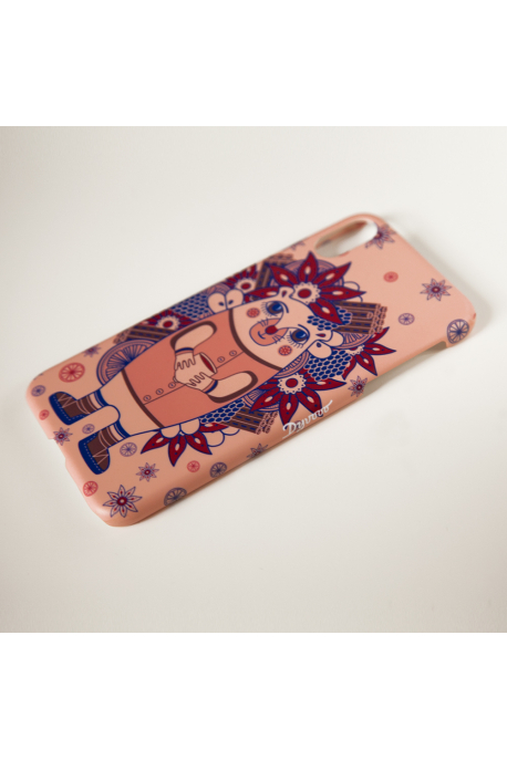 Phone case with hedgehog