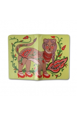"Passport Cover ""Baroque ermine"""