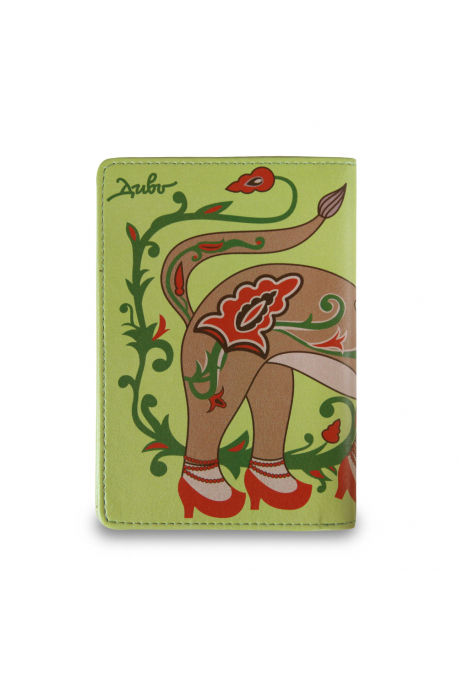 Eco-leather passport cover with ermine