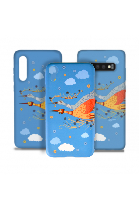 Smartphone case with storks