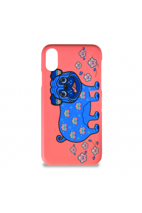 Phone case with pug