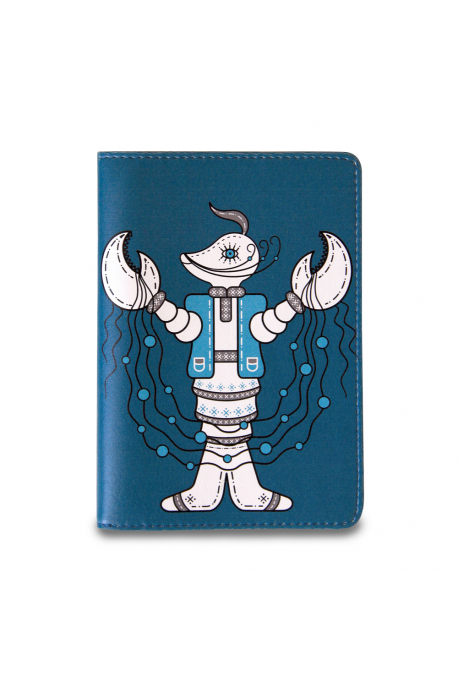 Eco-leather passport cover with crawfish