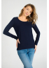 Women dark blue long sleeve