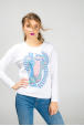 Cotton women white long sleeve