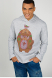 Men's hoodie with print beavers