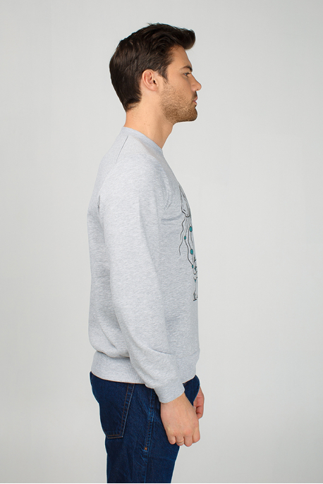 Men's sweatshirt with crawfish