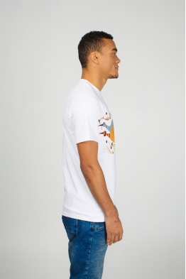 "White men's t-shirt ""The Sky Storks"""