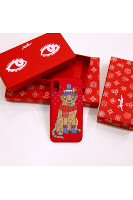 "The phone case ""Christmas Labrador"""