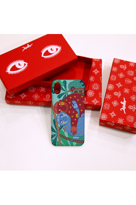 Phone case with lovely monkeys