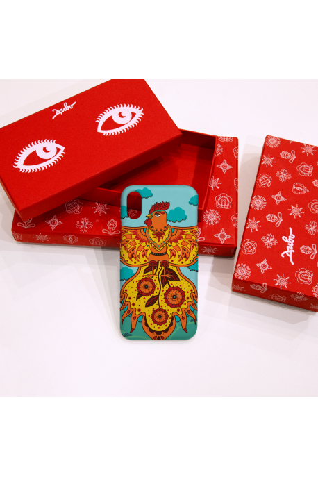 Phone case with rooster