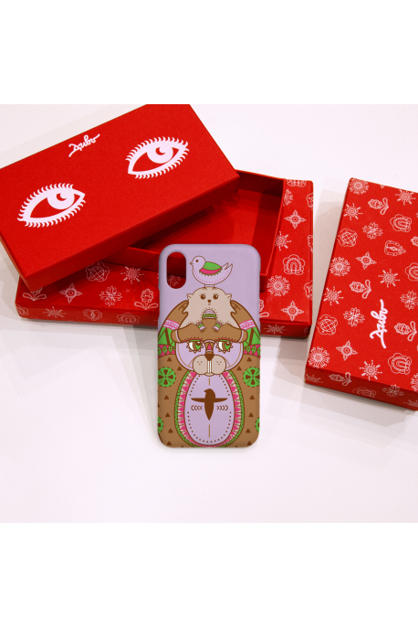 Phone case with beavers