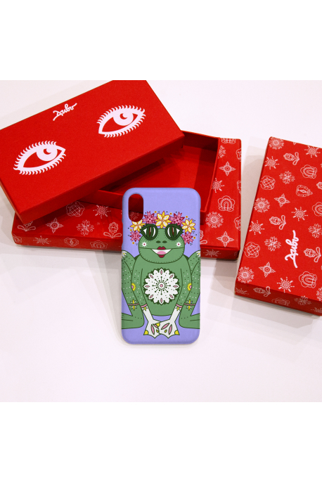 Phone case with frog print