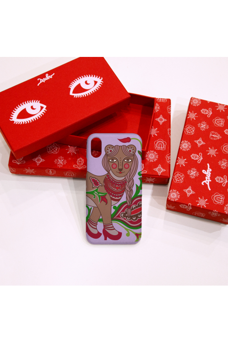 Phone case with ermine print
