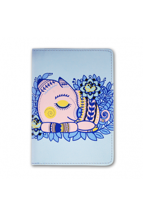 Eco-leather passport cover with piggy