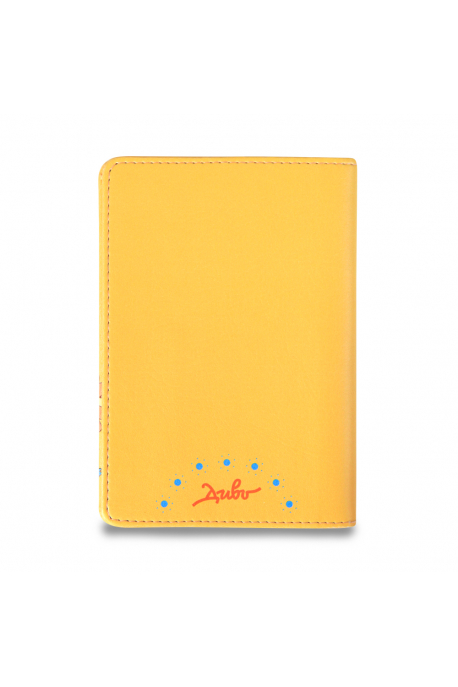 Eco-leather passport cover with lion