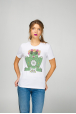 White Women's T-Shirt with Frog print